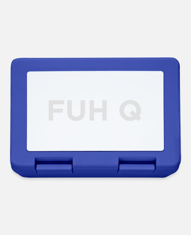 Anger Lunchboxes - FUH Q - Fuck You - Lunchbox royal blue
