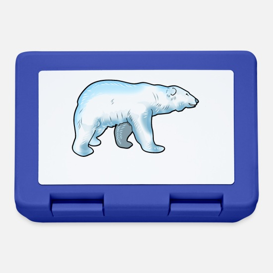 Birthday Lunchboxes - Polar bear, polar bear - design - Lunchbox royal blue