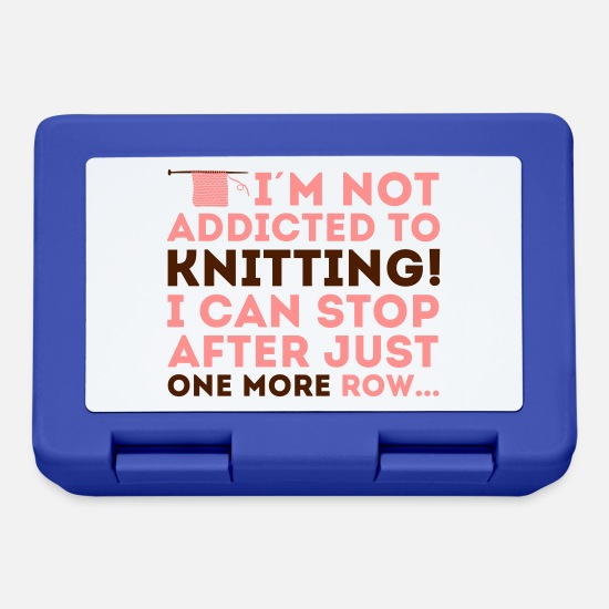 Knitting Lunchboxes - I'm not addicted to knitting! I can stop - Lunchbox royal blue
