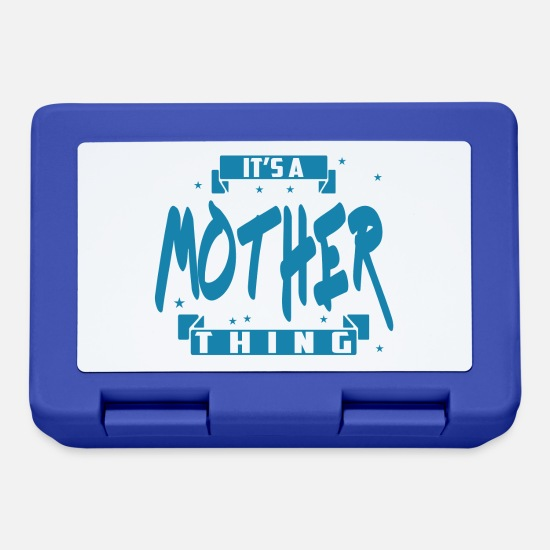 Mummy Lunchboxes - Mother front - Lunchbox royal blue
