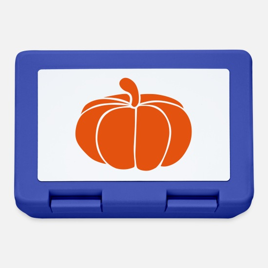 Halloween Lunchboxes - Pumpkin - Lunchbox royal blue