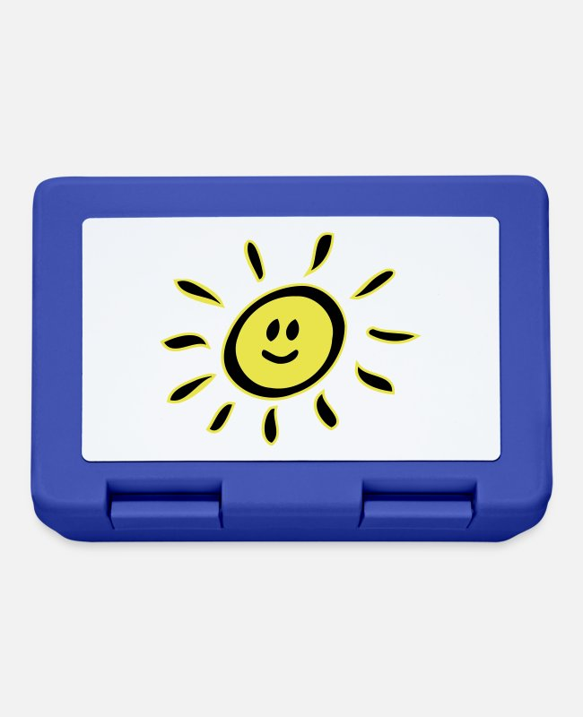 Cheerful Lunchboxes - Smiley sun - Lunchbox royal blue