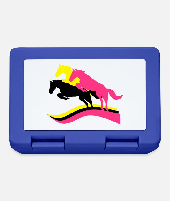 Cowboy Lunchboxes - Horses - Lunchbox royal blue