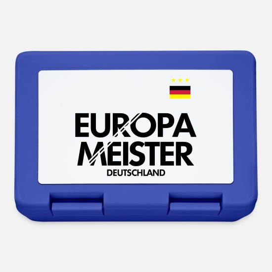 Germania Lunch boxes - Germania Campione d'Europa - Lunch box blu royal