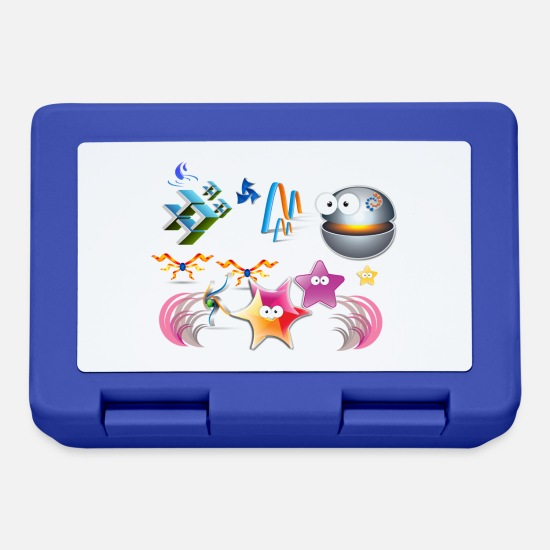World Lunchboxes - Water World - Lunchbox royal blue
