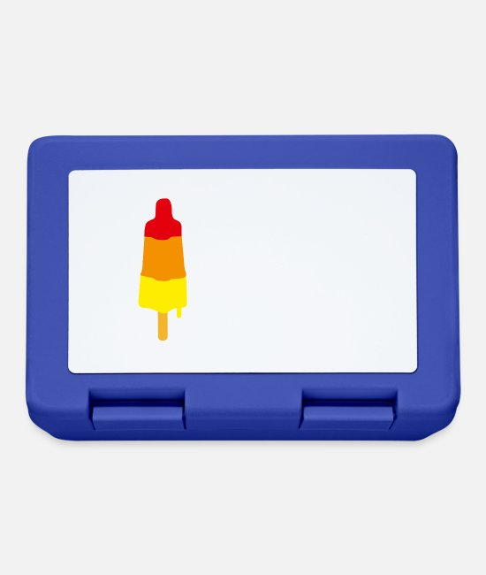 Lollipop Lunchboxes - I licked it so it's mine licking popsicle ice - Lunchbox royal blue