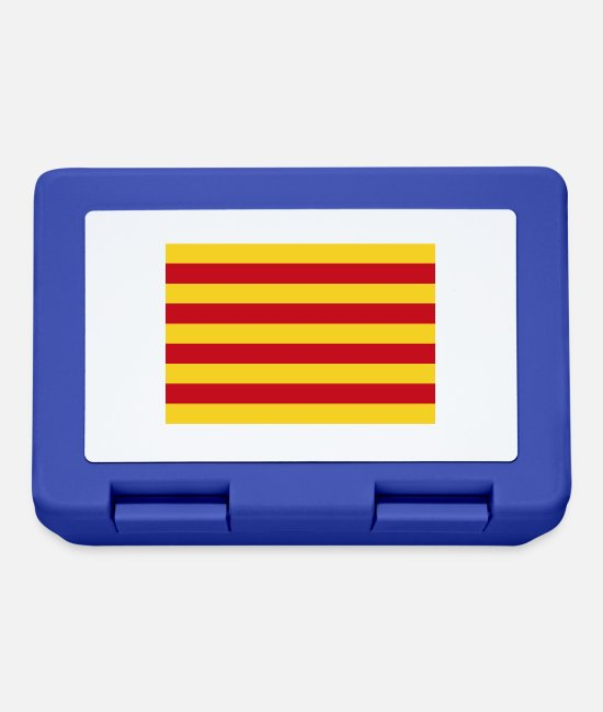 Red Lunchboxes - La Senyera Catalunya - Lunchbox royal blue