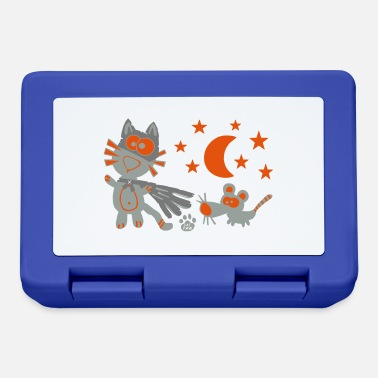 Catpaw Catpaw Catman and Robin Comic Fun Nacht Humor - Lunchbox
