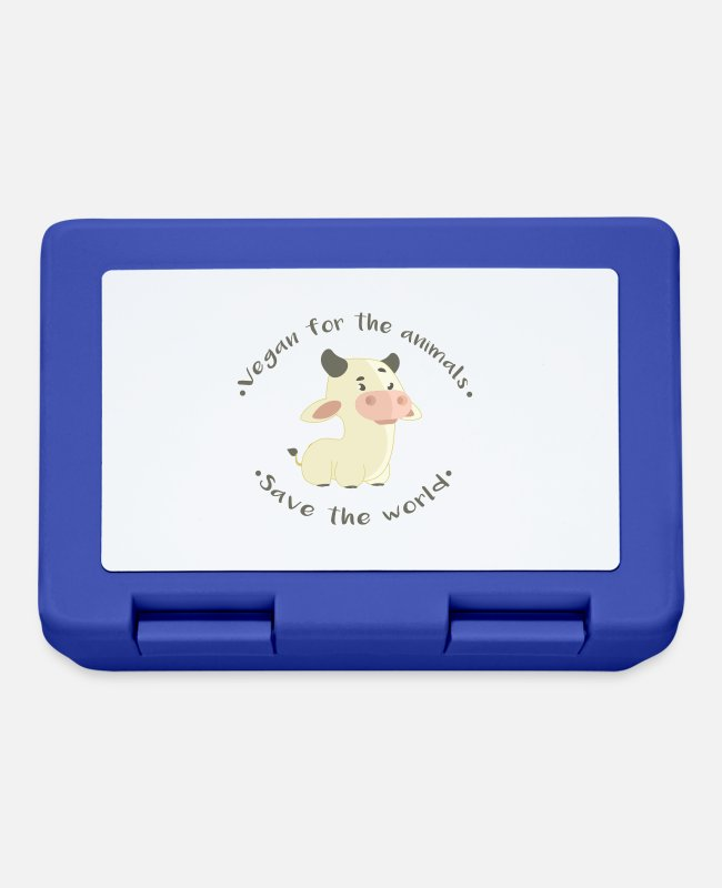 Animal Liberation Lunchboxes - -Save the world - Lunchbox royal blue