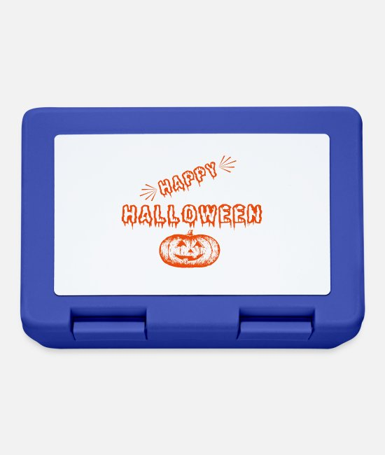 Doll Lunchboxes - HAPPY HALLOWEEN AMERICA UNDEAD PUMPKIN MONSTER - Lunchbox royal blue