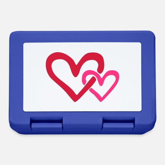 Heart Lunchboxes - Heart Love - Lunchbox royal blue