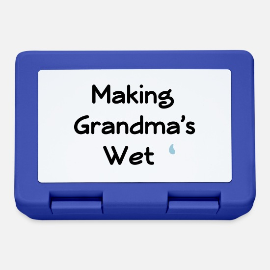 Wet Lunchboxes - making grandma's wet - Lunchbox royal blue