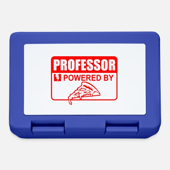 Professor Lunchboxes - Professor Powered by Pizza - Lunchbox royal blue