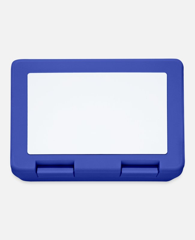Quadrangles Lunchboxes - Squares white - Lunchbox royal blue