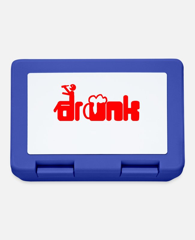 Festival Lunchboxes - Drunk - Lunchbox royal blue