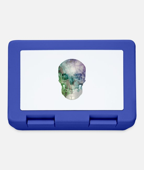 Abstract Lunchboxes - smoke skull - Lunchbox royal blue
