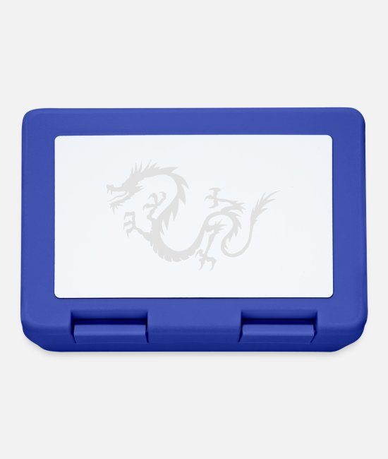 Reptile Lunchboxes - Chinese Dragon - Lunchbox royal blue