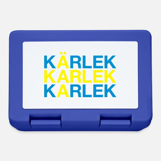 Swedish Lunchboxes - KÄRLEK - Lunchbox royal blue