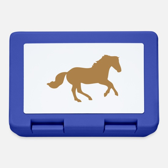Horse Lunchboxes - Galloping Horse / Pony - Lunchbox royal blue