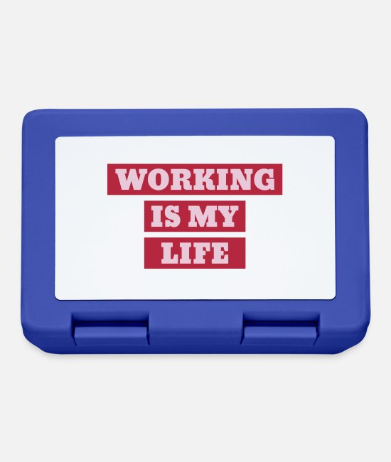 Factory Lunchboxes - Worker Arbeiter Ouvrier Work Arbeit Travail - Lunchbox royal blue