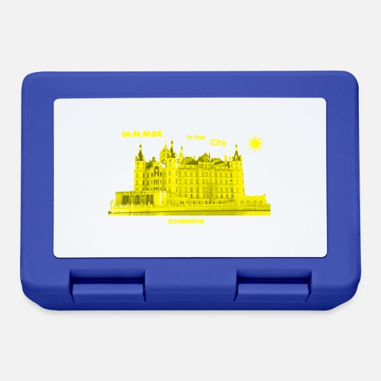 Castle Lunchboxes - Summer Schwerin City Summer Mecklenburg Western Pomerania - Lunchbox royal blue
