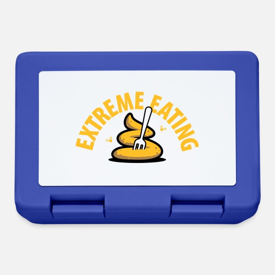 Infection Lunchboxes - Extreme Eating - Lunchbox royal blue