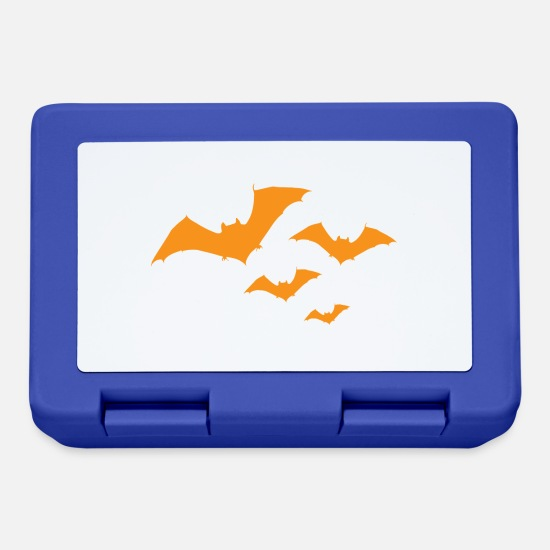 Full Moon Lunchboxes - Bat Halloween - Lunchbox royal blue
