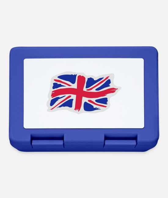 Great Britain Lunchboxes - unionjackbrush2 - Lunchbox royal blue