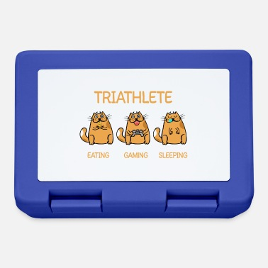 Triathleet Triathlete - Gaming Sleeping - Cat - Broodtrommel