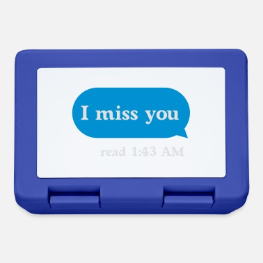 Tumblr Style I miss you - Lunch box