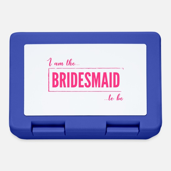 Bride Lunchboxes - I am the Bridesmaid To Be in Pink - Lunchbox royal blue