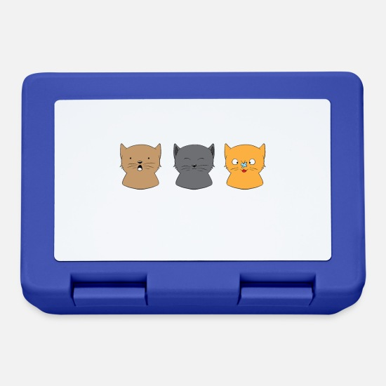 Amico Gatti Lunch boxes - I What Normal Three Cats Ago - Cat Whiskers dei gatti - Lunch box blu royal