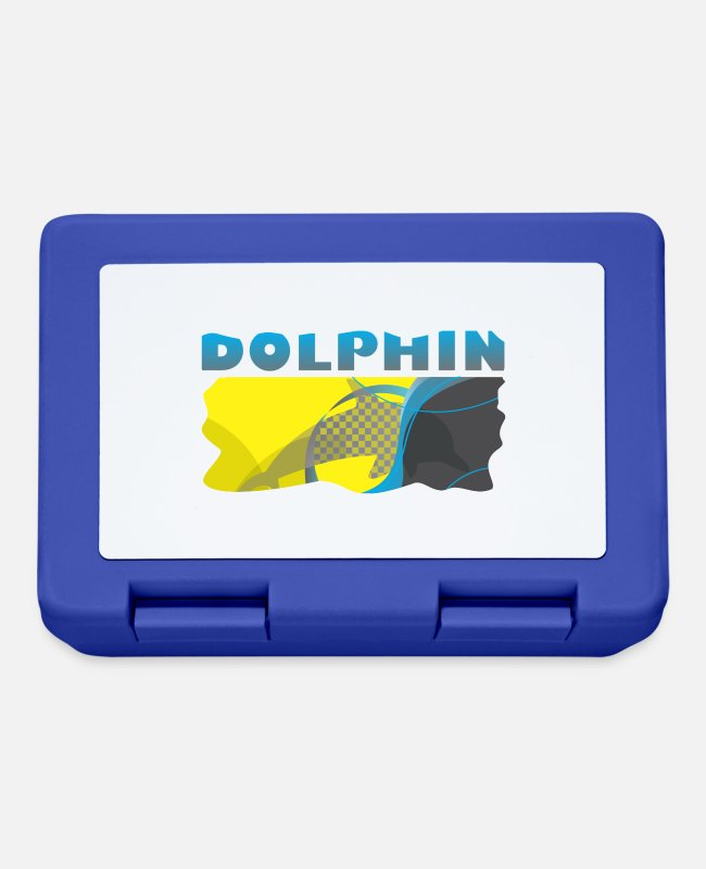 Marine Animal Lunchboxes - Dolphin - Lunchbox royal blue