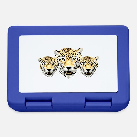 Soft Kitty Lunchboxes - leopards - Lunchbox royal blue