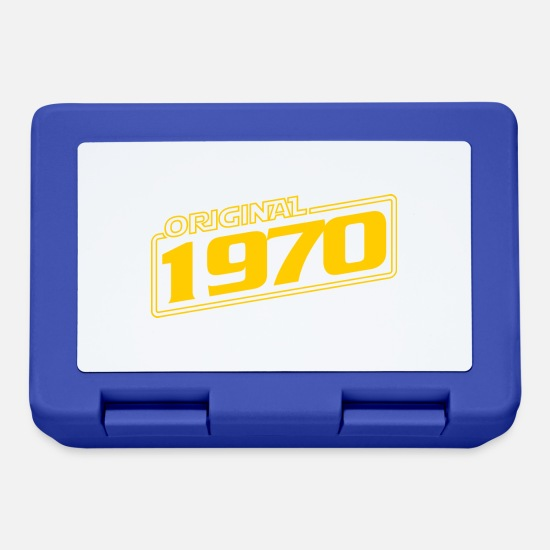 Birthday Lunchboxes - original 1970 - Lunchbox royal blue