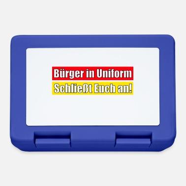 Uniform Bürger in Uniform - Schließt Euch an! - Brotdose