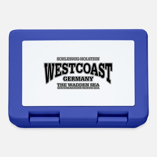 West Coast Brotdosen - Westcoast black print - Brotdose Royalblau