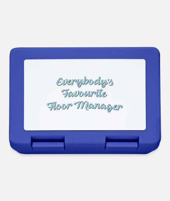Floor Hockey Lunchboxes - Everybodys favourite floor manager funny - Lunchbox royal blue