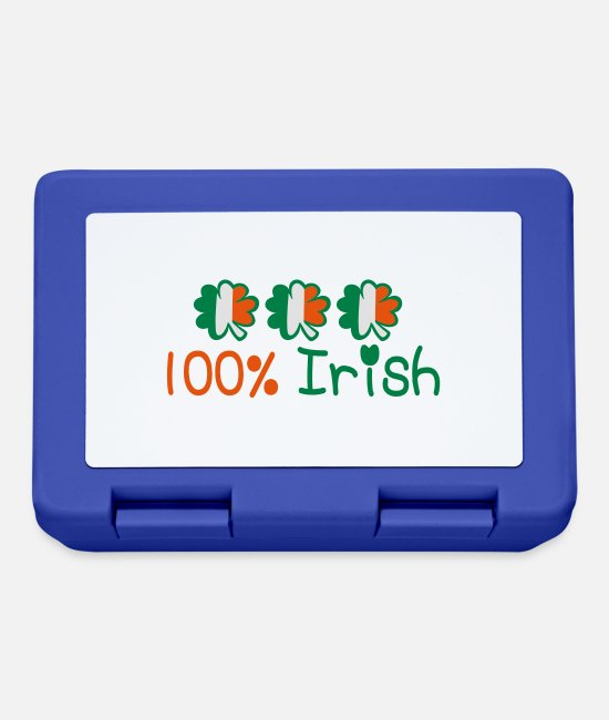 I Want To Marry Irish I Want To Have A Irish Girlfriend Irish Boyfriend Irish Husband Irish Wife Iri Lunchboxes - ♥ټ☘Kiss Me I'm 100% Irish-Irish Rule☘ټ♥ - Lunchbox royal blue