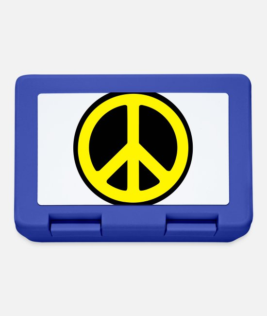 Hippie Lunchboxes - Peace - Lunchbox royal blue
