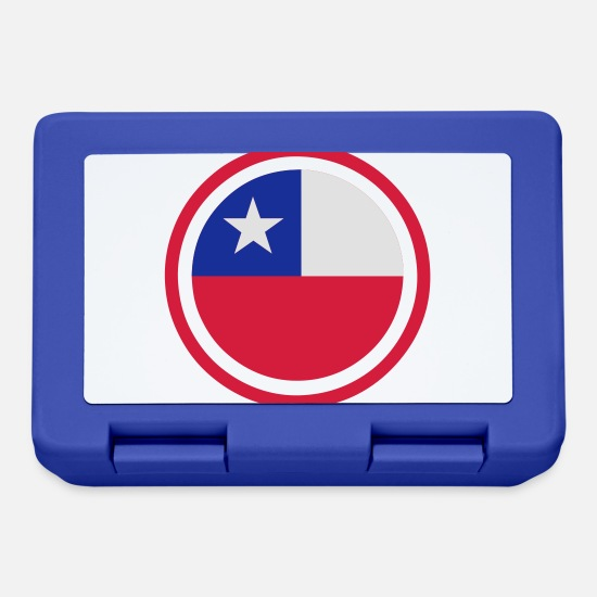 South America Lunchboxes - Chile Emblem - Lunchbox royal blue