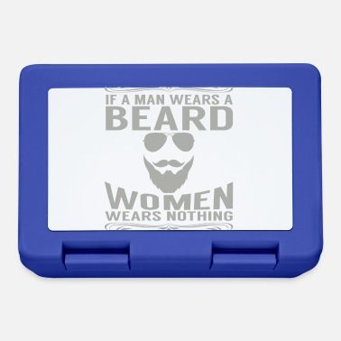 Wear If a man wears a beard, a woman wears nothing - Lunchbox