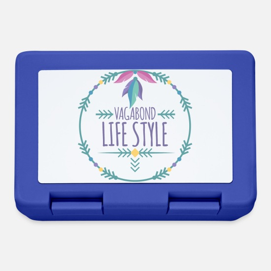 Love Lunchboxes - Hippie / Hippies: Vagabond Life Style - Lunchbox royal blue