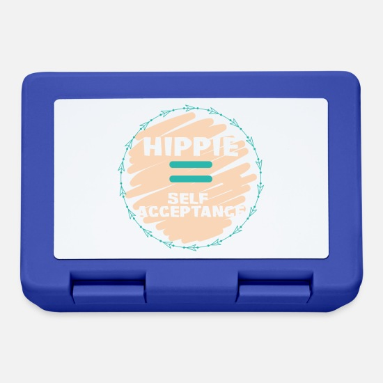 Love Lunchboxes - Hippie / Hippies: Hippie = Self Acceptance - Lunchbox royal blue