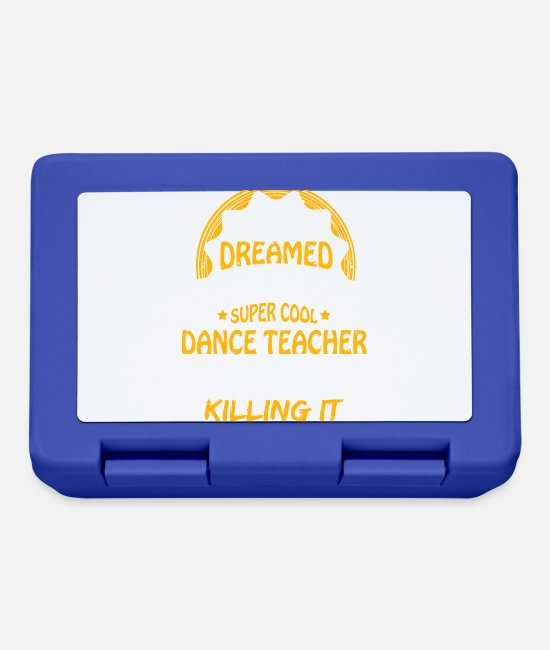 Standard Lunchboxes - Dancing teacher funny sayings - Lunchbox royal blue