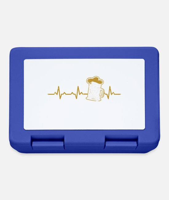 Heart Lunchboxes - Beer heartbeat heartbeat gift pils old beer - Lunchbox royal blue