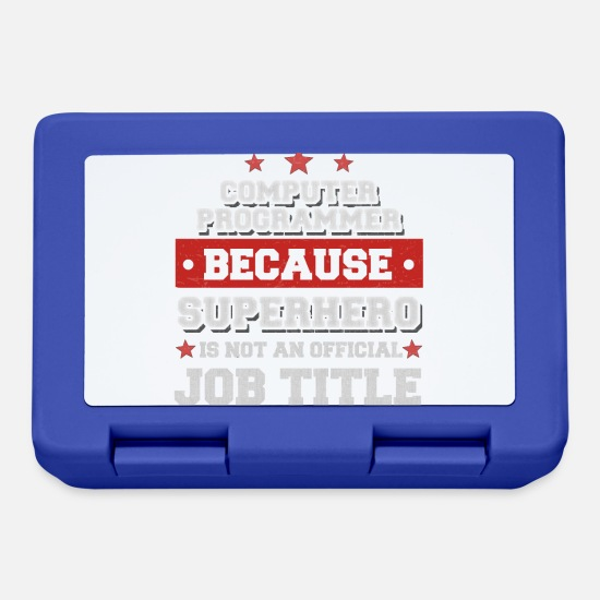 Occupation Lunchboxes - Computer Programmer - Superhero is not a job - Lunchbox royal blue