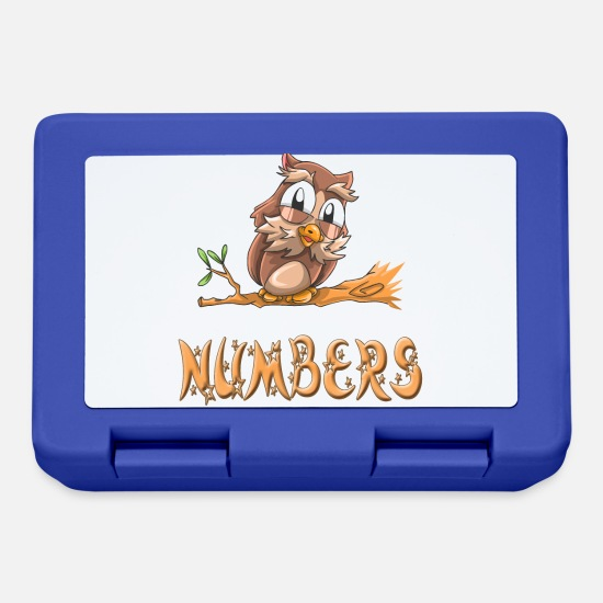 Numbers Owl Lunchboxes - Owl Numbers - Lunchbox royal blue