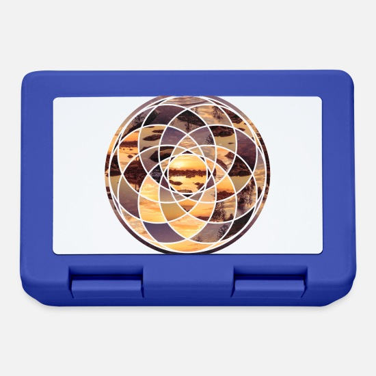 Cool Lunch boxes - Geometric Design 2 Solo - Lunch box blu royal