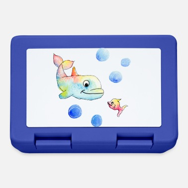 Analogue Colorful dolphin and fish - Happy Animals - Lunchbox